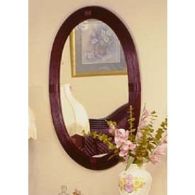Del Ray Oval Rattan Mirror