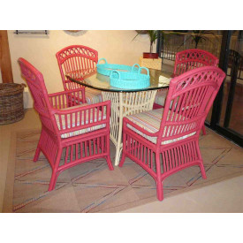 Cottage Dining Set With 4 Side Chairs