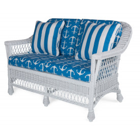 Harbor Front Wicker Love Seat