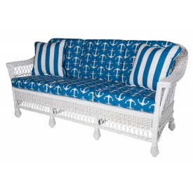Harbor Front  Wicker Sofa