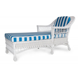 Harbor Front Natural Wicker Chaise Lounge