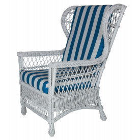 Harbor Front  Wicker Wing Chair