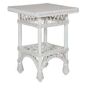 Harbor Front Wicker End Table