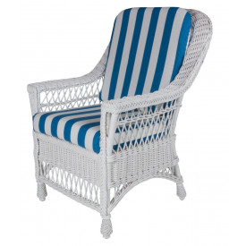 Harbor Front Wicker Dining Arm Chair