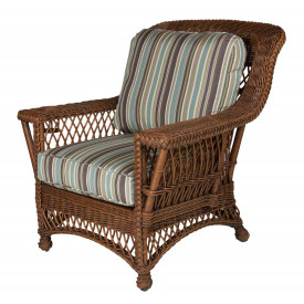 Rockport Wicker Chair with Magazine  & Glass Holder High Back