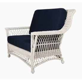 Rockport Wicker Chair and a Half High Back