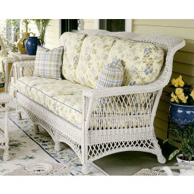 Rockport Natural  Wicker Sofa High Back