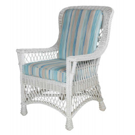 Rockport Wicker  Dining Arm Chair