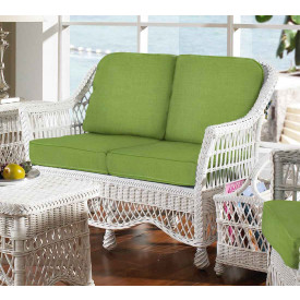 Capri Rattan Framed Natural Wicker Loveseat