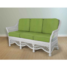 Capri Rattan Framed Natural Wicker Sofa