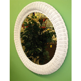 "30"" Extra Large Round Wicker Mirror"
