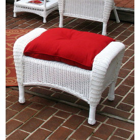Malibu Wicker Ottoman with Cushion