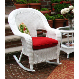 Malibu Resin Wicker Rockers  in 4 Colors and 50 Fabrics