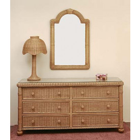 Montego Bay Wicker Mirror