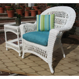Madrid Resin Wicker Chair with Cushion