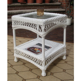 Madrid Resin Wicker End Table