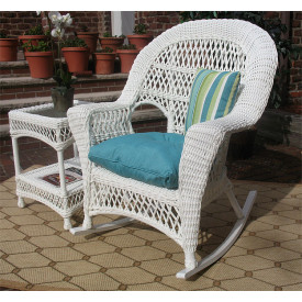 Madrid Resin Wicker Rockers in 2 Colors and 50 Fabrics