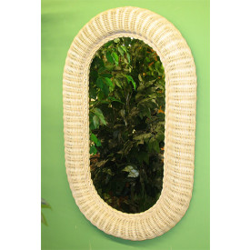 Medium Extra Large Oval  Wicker Mirror