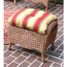 Naples Wicker Bench/Ottoman with Cushion