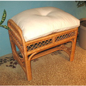 Savannah Wicker Bench/Ottoman