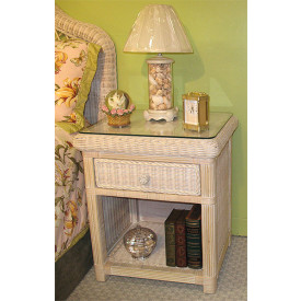 Pavilion 1-Drawer Wicker Night Table