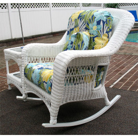 Palm Springs Resin Wicker Rockers in 4 Colors and 50 Fabrics
