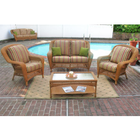 4 Piece Palm Springs Set with 2 Chairs and Cushions
