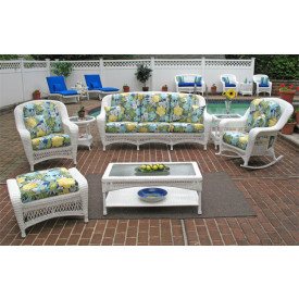 5 Pc Palm Springs Resin Wicker Furniture Set
