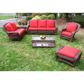 Amazing 6 Pc Palm Springs Resin Wicker Furniture Set
