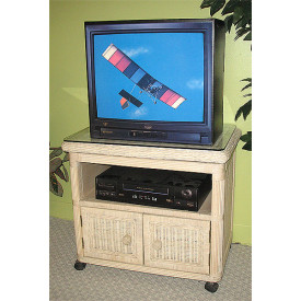 Pavilion Wicker Swivel TV Stand