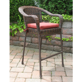 Resin Wicker Bar Stools, Min 2