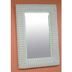 Rectangular Wicker Mirror