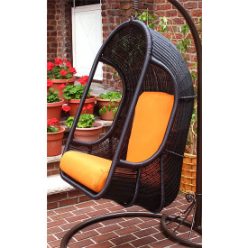 Set of (2) Resin Swing Chairs with Full Size Cushions
