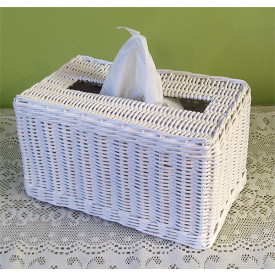 Rectangular Wicker Tissue Box Cover