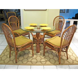 "Savannah 42"" Round Natural Rattan Dining Sets"