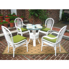 "Natural Rattan Dining Sets, Savannah 36"" Round"