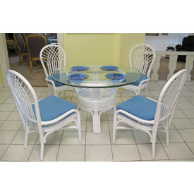 "Savannah 48"" Round Rattan Dining Set"