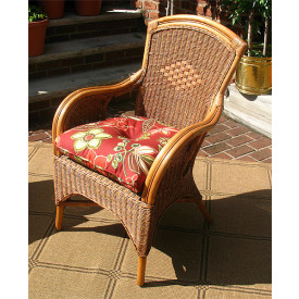Natural Rattan Santa Fe Rattan Chair with Cushion