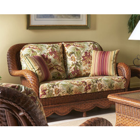 Autumn Morning Rattan Loveseat