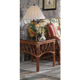 Antiqua Natural Rattan End Table