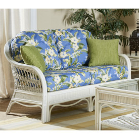 Bermuda Rattan Framed Wicker Loveseat