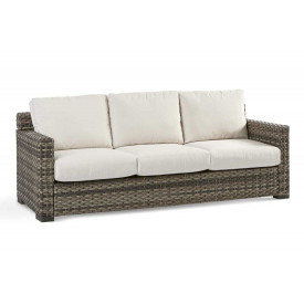 All Weather Resin Wicker Sofa, Biscayne Bay