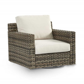 All Weather Resin Wicker Swivel Glider Chair, Biscayne Bay