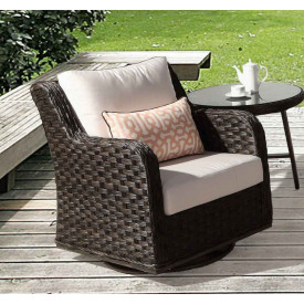 Canyon Lake Resin Wicker Swivel Glider Chair
