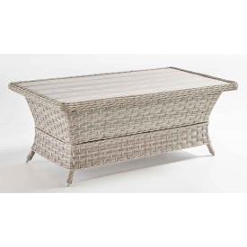 Countryside Resin Wicker Poly Slat Cocktail Table (Not Sold Alone)