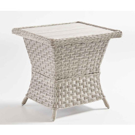 Countryside Resin Wicker  Poly Slat End Table (Not Sold Alone)