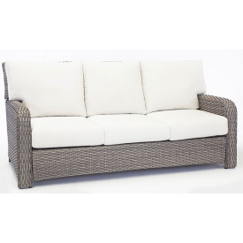 All Weather Outdoor Resin Wicker Sofa, St Croix