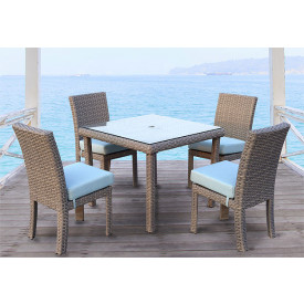 5 Piece St Croix Outdoor Resin Wicker Dining Set