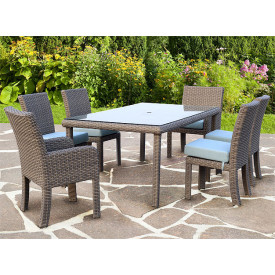 7 Piece St Croix Outdoor Resin Wicker Dining Set