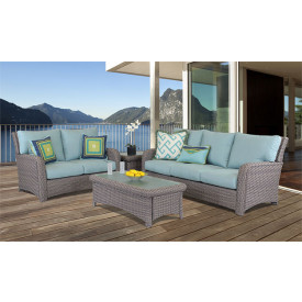 6 Piece Resin Wicker Furniture Set, St Croix